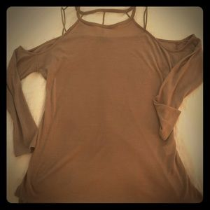 ANGL Tops - ANGL cold shoulder cut out knit top